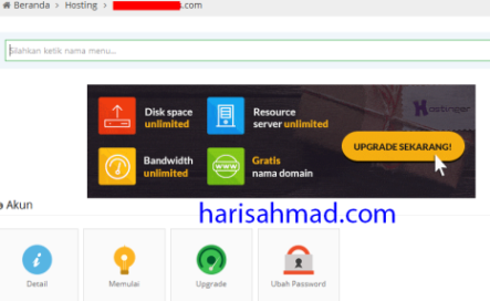 upgrade hostinger harisahmad